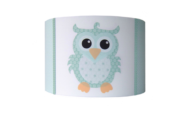 Gordijnen Kinderkamer Ruit : Kinderlamp Uil Mint