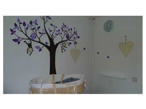 muurstickers babykamer paars ~ lactate for ., Deco ideeën