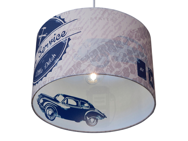 Little-Dutch-Kinderlamp-Silhouet-Auto-Blauw