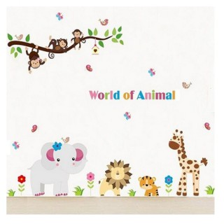 Muursticker World Animal